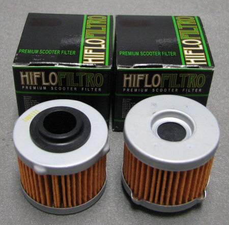 Hi-Flo HF186 Oil Filter 2 Pack Scarabeo 200
