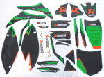 Akrapovic Full Graphics Kit for 09-11 Kawi KXF450