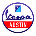 "AF1 Racing / Vespa Austin ""Service"" Decal"