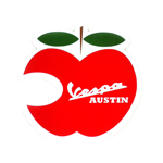 AF1 Racing Austin Vespa Apple Sticker