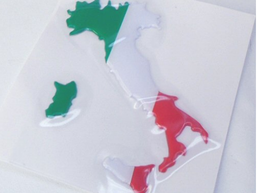 Italy Outline Tricolore Decal