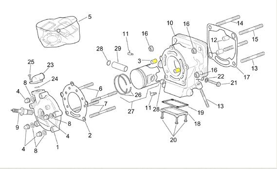 Af1 Racing  Oem Aprilia Cylinder Head Locating Pin Rs250