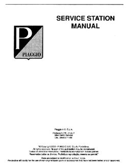 PIAGGIO TYPHOON 50 /& 125 SCOOTER WORKSHOP SERVICE REPAIR /& PARTS MANUAL