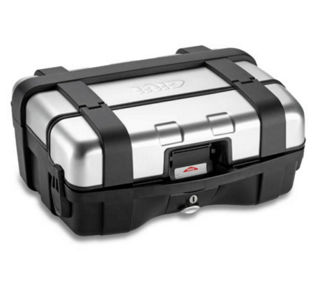 Givi-Trekker-MonoKEY-Top-Box-Silver-33-Liter