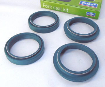 Ảnh của SKF Fork Seal Kit, Green for Sachs Forks - IN-KITG-43Zx2 (2 oil seals, 2 dust seals)