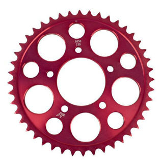 Picture of Driven Racing 520 Aluminum Rear Sprocket - Red