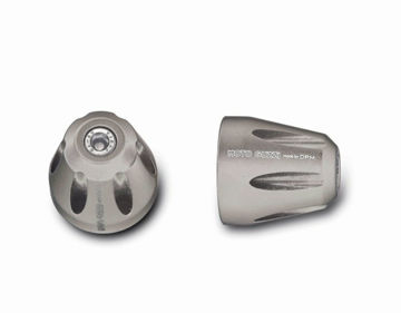 Obrázek OEM Moto Guzzi CNC Bar Ends, Silver - 2S000339