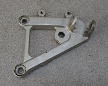 Used LH Rearset Plate for '98-'03 Mille, Mille-R, and '02-'05 Tuono की तस्वीर