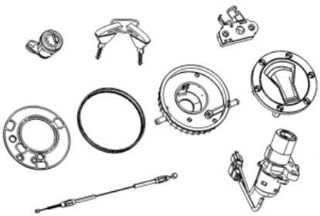 Picture of OEM Aprilia Lock Hardware Kit - 2B006654