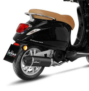 Picture of Leo Vince Exhaust For Vespa Primavera & Sprint 150, DARK Stainless Steel