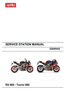 Picture of OEM Aprilia Service Manual For RS660 And Tuono 660