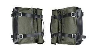 Picture of OEM Moto Guzzi Green Canvas Side Bags -2S001420