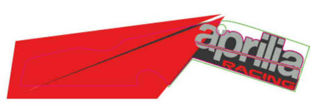 "Picture of OEM Aprilia RH Lower Fairing Decal ""Aprilia Racing"" Decal - 2H004191"