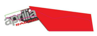 "Picture of OEM Aprilia LH Lower Fairing Decal ""Aprilia Racing"" Decal - 2H004192"