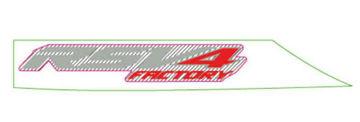 "Picture of OEM Aprilia RH Rear Fairing Decal ""RSV4"" - 2H004207"