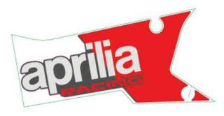 Picture of OEM Aprilia LH Lower Fairing Decal 'Aprilia Racing' - 2H003997