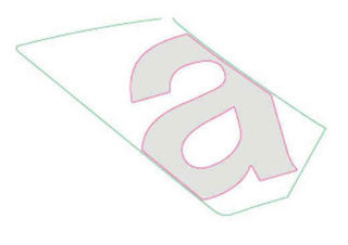 Picture of OEM Aprilia LH Mid Fairing Decal 'a' - 2H003991