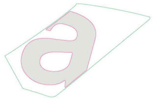 Picture of OEM Aprilia RH Mid Fairing Decal 'a' - 2H003990