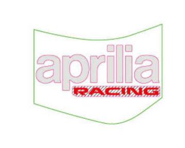 Picture of OEM Aprilia RH Fuel Tank Decal 'aprilia racing' - 2H003986