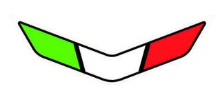 Picture of OEM Aprilia Front Fairing Tricolore Decal - 2H004229