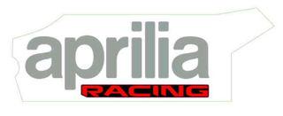 Picture of OEM Aprilia RH Lower Fairing Decal 'Aprilia Racing' - 2H004313
