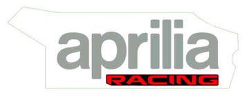 Picture of OEM Aprilia LH Lower Fairing Decal 'Aprilia Racing' - 2H004314