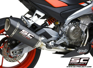Picture of SC Project SC1-R Carbon Fiber Can w/Stainless Full System for Tuono 660 - MV-A23B-AC90C