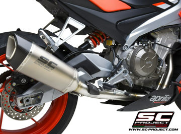 Picture of SC Project SC1-R Titanium Can w/Stainless Full System for Tuono 660 - MV-A23B-AC90T