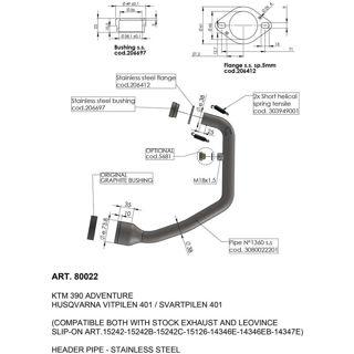 LeoVince HEADER KTM HUS 390 401 - PU18120531