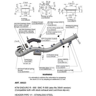 LeoVince HEADER KTM 690 SS 21 - PU18120532