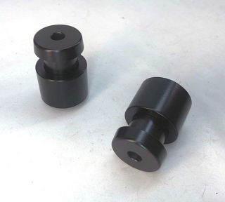 Picture of RhinoMoto Two Piece Bar Ends W/Mirror Recesses - RS660