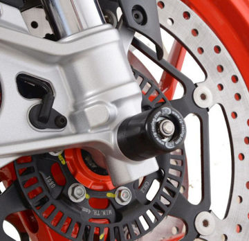 Picture of R&G Racing Front Axle Sliders for Aprilia RS660 & Tuono 660 - FP0249BK