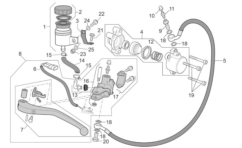 Table on Clutch Master Cylinder Diagram
