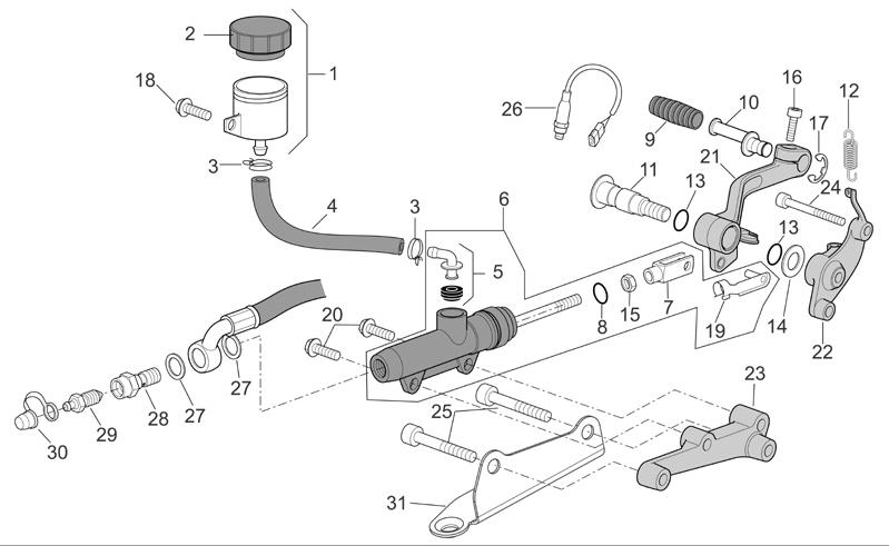 Genuine OEM Rear Brake Lever Pedal for Aprilia RS4-50 RS4-125 RS4 50 125