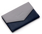 Vespa Synthetic Leather Document Holder Grey/Blue