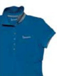 Vespa Ladies Polo Shirt, Blue Medium - 605723M03B