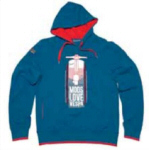 Vespa Hooded Sweatshirt, Blue XL - 605726M05A