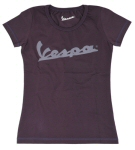 OEM Vespa Ladies T-Shirt Plum XL -606053M06P