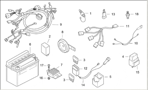 SR50_electrical af1 racing aprilia vespa piaggio guzzi norton ural aprilia sr 50 wiring diagram at readyjetset.co