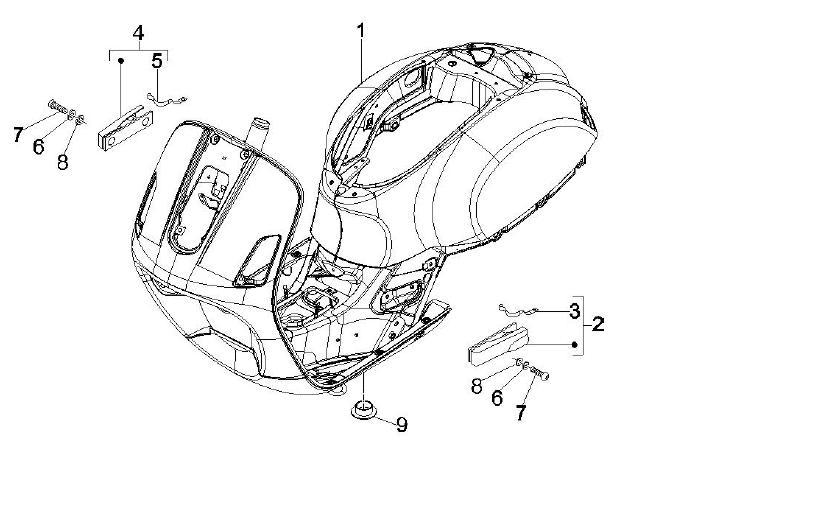 af1 racing   aprilia parts and accessories  vespa gts 250  02 01 - frame